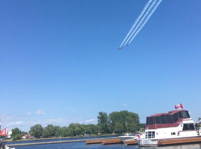 Watching the Trenton Air Show from the marina